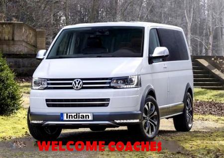 6 Seater Volkswagen Caravelle Van Booking Delhi India Luxury